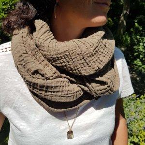 Sa-nuk mousseline katoenen kleine sjaal textiel leger groen