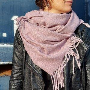 Sà-nùk - Sjaal Naina lila roze gemaakt van Kasjmier wol