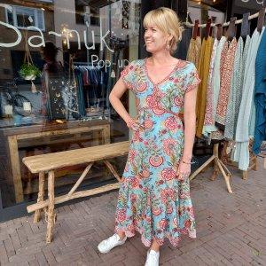 sa-nuk boho jurk zomerjurk hippie ibiza kleur bloemen