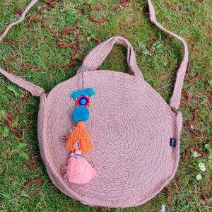 Bohemian boho ibiza tas met afneembaar hengsel.